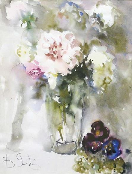 Яснопольская - Розы в вазе