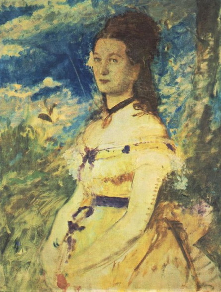 Pal Szinyei Merse -  Wife Dressed in Yellow