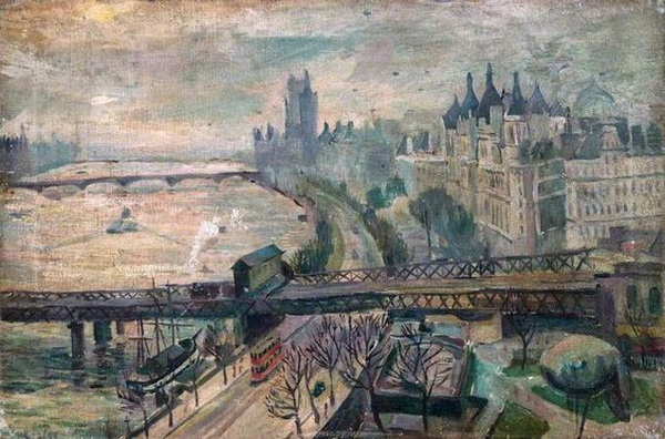 Charles Alfred Mozley - The Thames Embankment