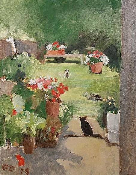 Adrian Maurice Daintrey - Cat in the garden, Victoria Road