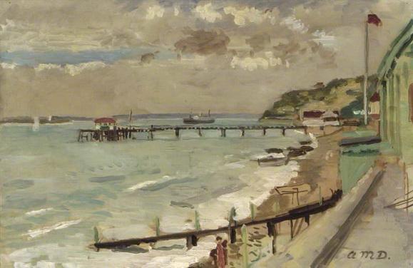 Adrian Maurice Daintrey - Beach Scene, Totland Bay