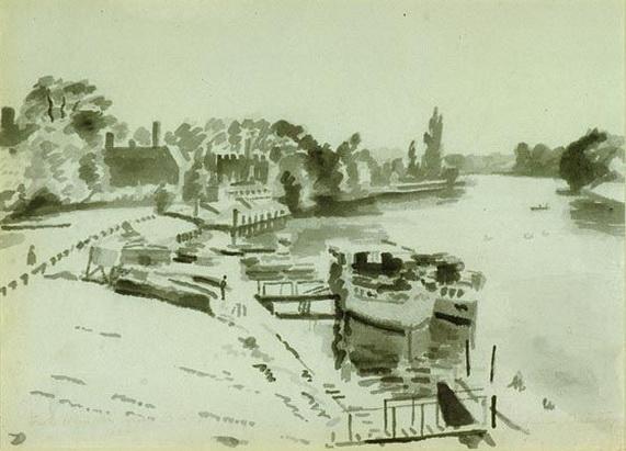 Adrian Maurice Daintrey - From Hampton Court Bridge