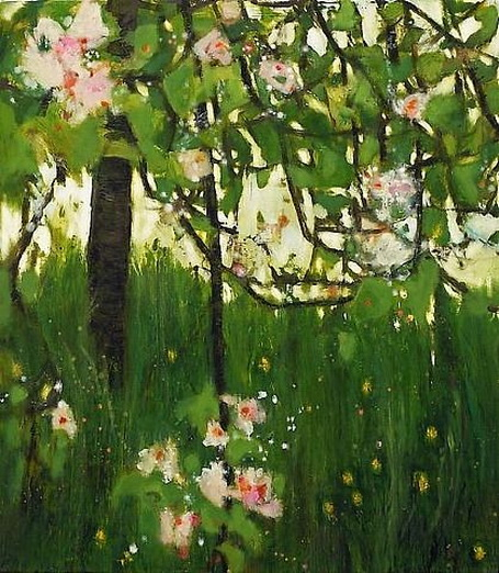 Katherine Bowling - Apple Tree with Dandelions