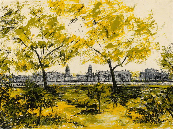 Noel Gibson - Greenwich from the Isle of Dogs