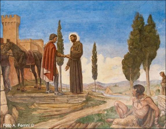 Baccio Maria Bacci -   Vida de San Francisco de Asis San Francesco e il lebbroso
