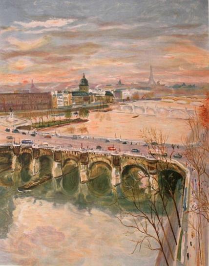 Serge Belloni - La Seine vue du Pont-Neuf