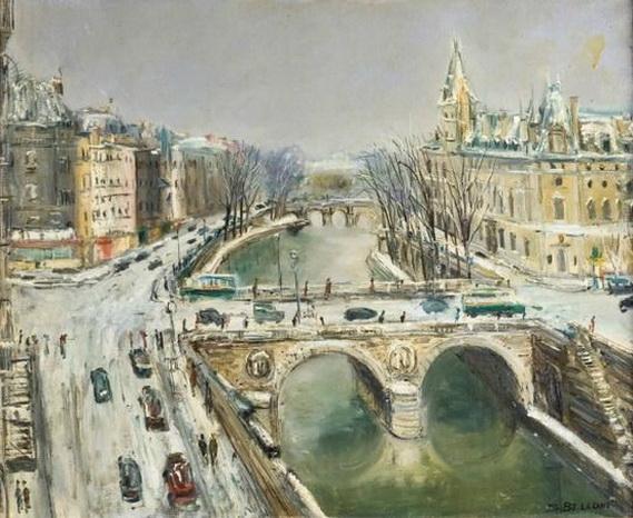 Serge Belloni - Le long de la Seine a Paris