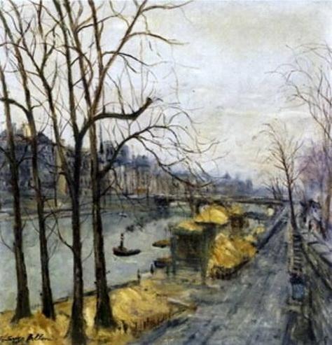 Serge Belloni - Temps gris sur la Seine