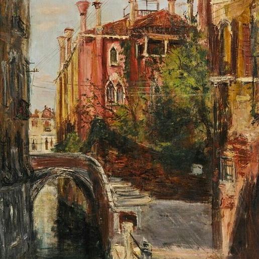Serge Belloni - Venetian Canal Scene