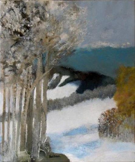 Guy Bardone - Bosquet d'arbres gris