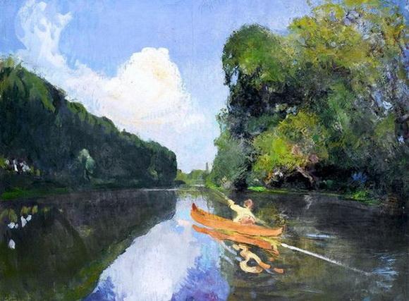 Jean-Franck Baudoin -   Le canoe orange