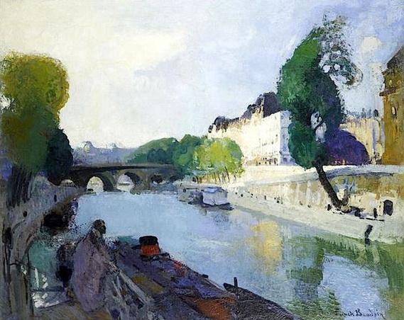 Jean-Franck Baudoin -  Quai de Seine Avec Vue