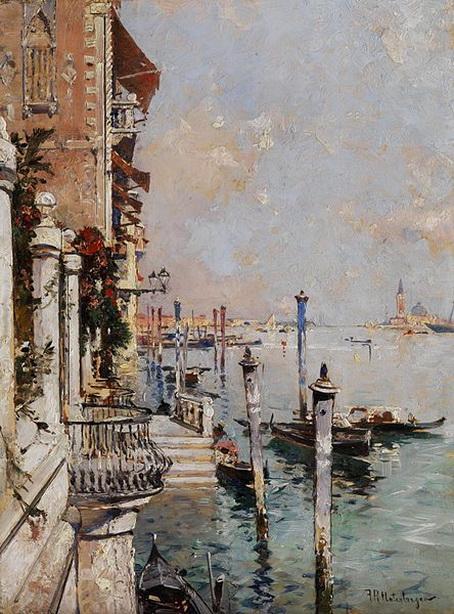 Franz Richard Unterberger - Venice Blick uber den Canal Grande