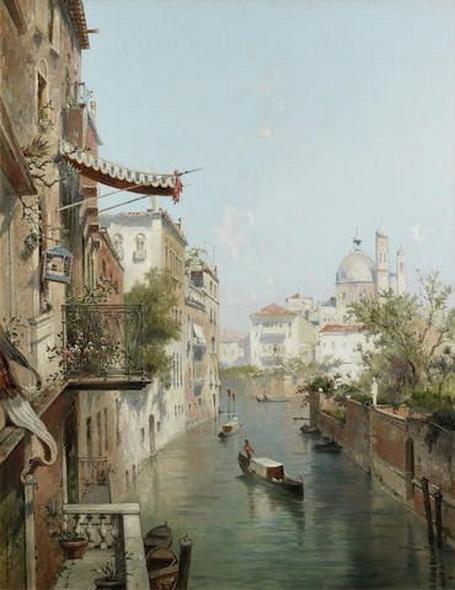 Franz Richard Unterberger - Venice  Canale San Barnaba