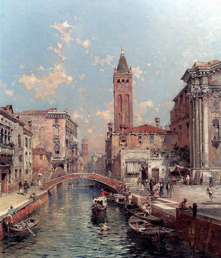Franz Richard Unterberger - Venice Rio Santa Barnaba