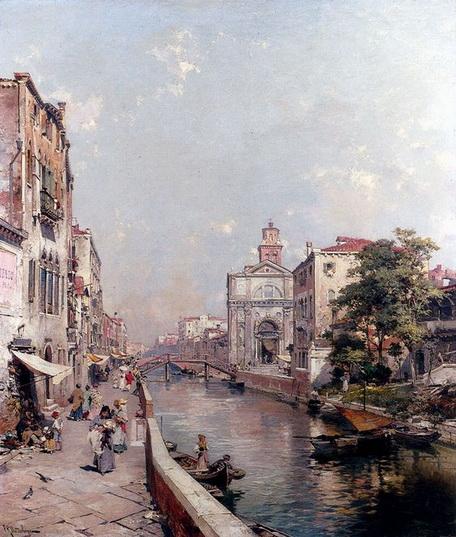 Franz Richard Unterberger - Venice Rio St. Geronimo