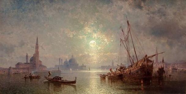 Franz Richard Unterberger - Venice, View of San Giorgio Maggiore