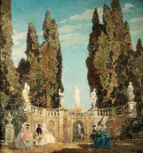 Emma Ciardi - Scena settecentesca in giardino2