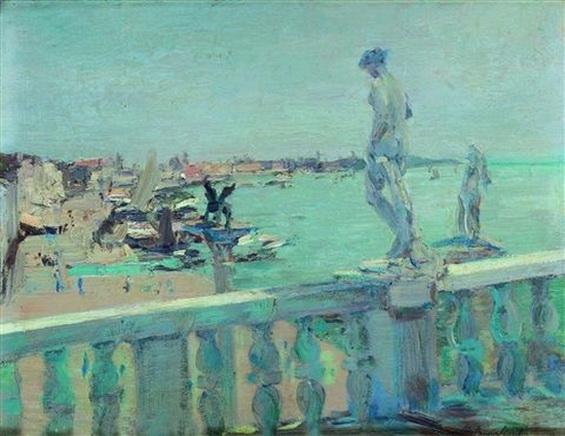 Emma Ciardi - Venice  Veduta da un balcone della Libreria