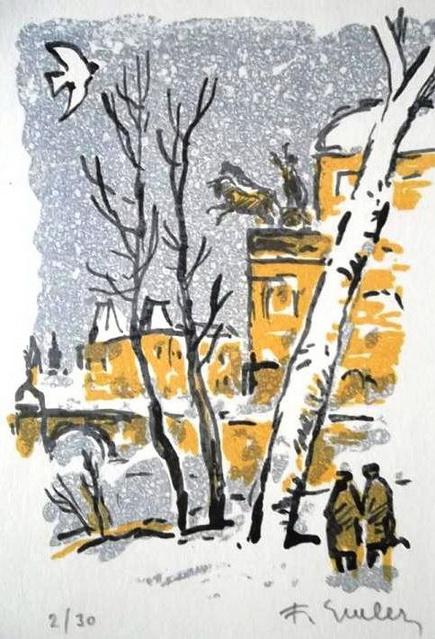 Frantisek Emler - litografie 3