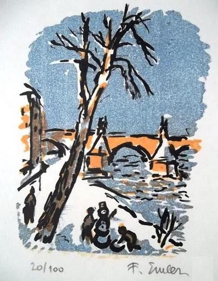Frantisek Emler - litografie 4