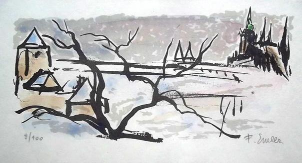 Frantisek Emler - litografie 9
