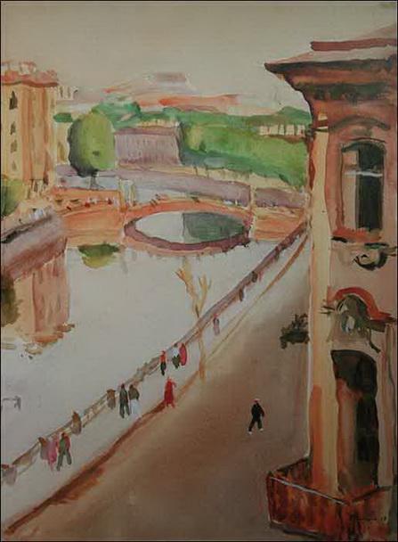 Nikolay Lapshin - Leningrad Вид на Мойку из окна комнаты