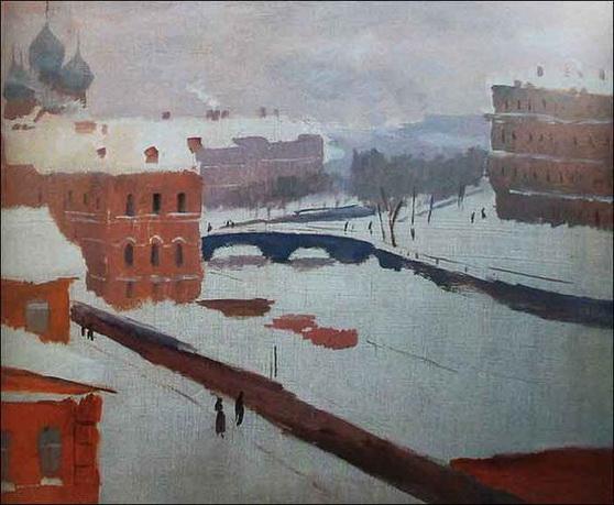 Александр Ведерников - Канал Грибоедова зимой