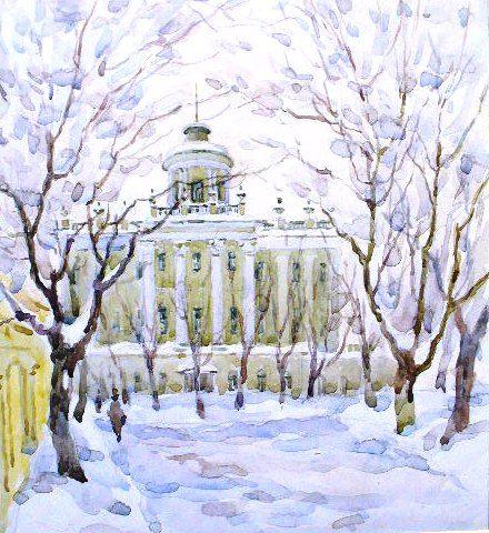 Ромодановская Антонина - Зима. Дом Пашкова