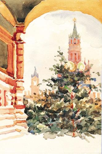 Ромодановская Антонина -  Кремлевские башни.