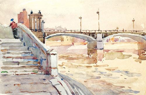 Ромодановская Антонина -  У Бородинского моста.