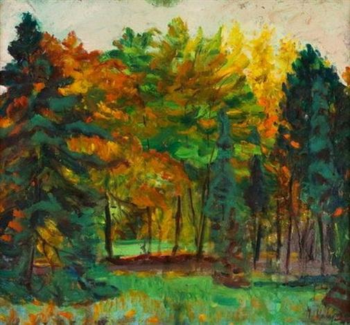 Miloslav Holy - Podzimni stromy ve Stromovce
