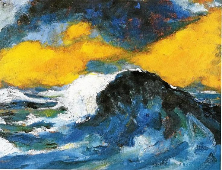 Emil Nolde Grande Vague deferlante