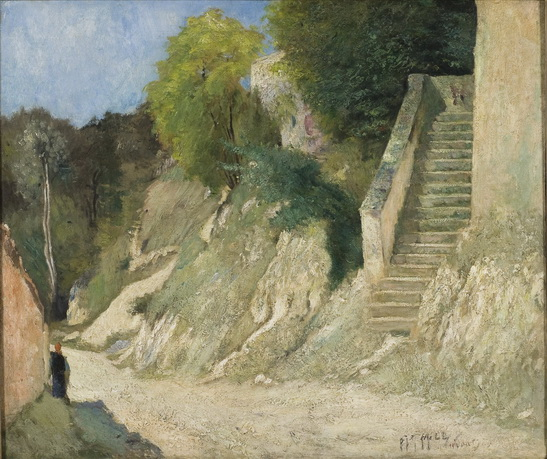 Carl Fredrik Hill - A Steep Ascent in Montigny