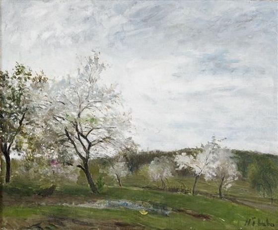 Carl Fredrik Hill - Blommande frukttrad