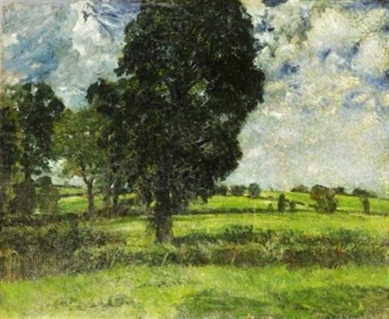 Carl Fredrik Hill - Landskap fran Bois-le-Roi