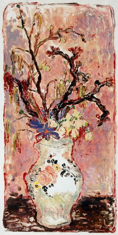 Alena Cermakova - Bouquet in a painted vase