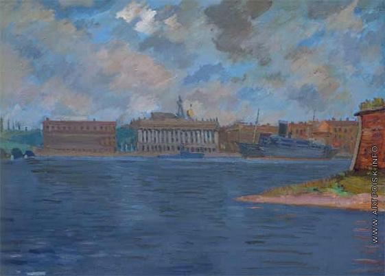 Rusakov A I - Русаков А. И. Вид на Неву с Петропавловской крепости