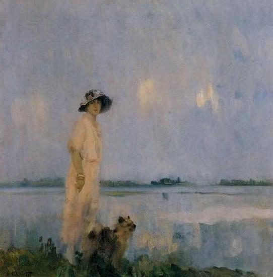 Ambrogio Antonio Alciati - Woman with Her Dog