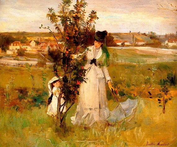 Berthe Morisot Игра в прятки. (1873)