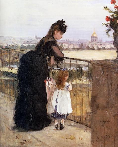 Berthe Morisot Женщина с ребенком на балконе