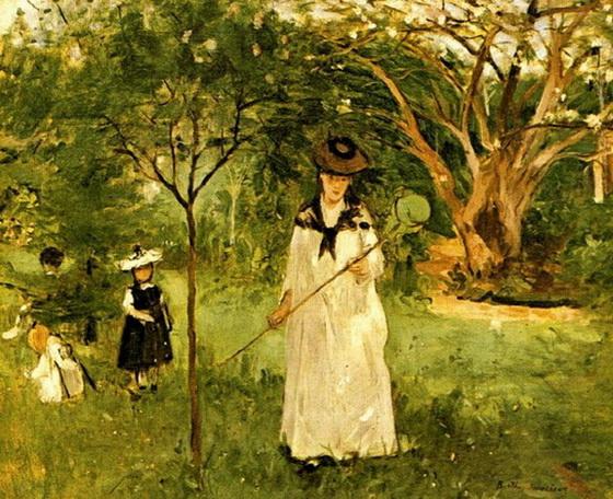 Berthe Morisot  La Chasse aux Papillons