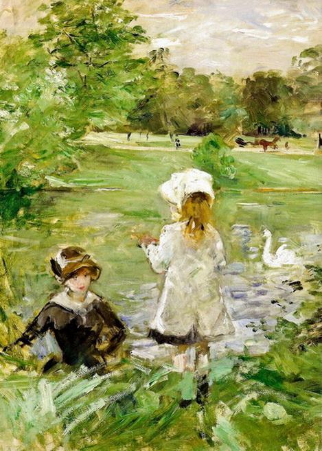 Berthe Morisot  Au bord du lac