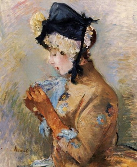 Berthe Morisot - Woman Wearing Gloves