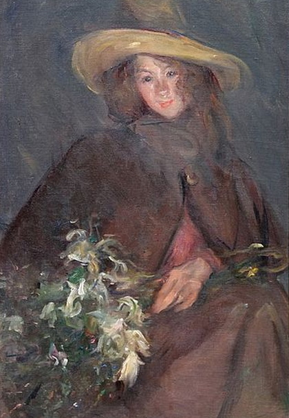 Albert de Belleroche -  Portrait of a Girl