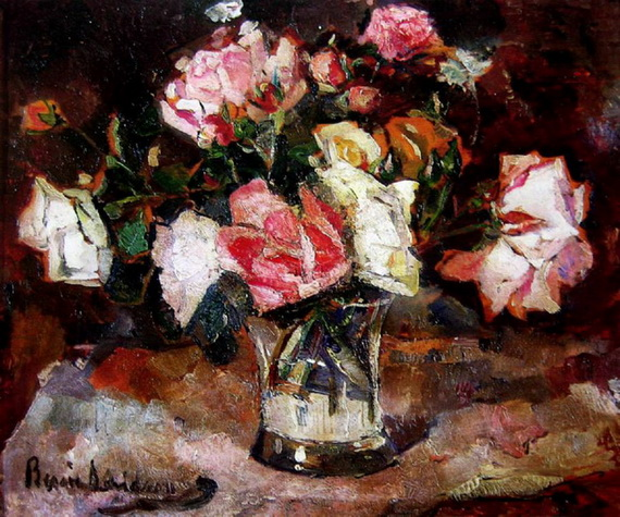 Bessie Davidson - Still Life of Roses