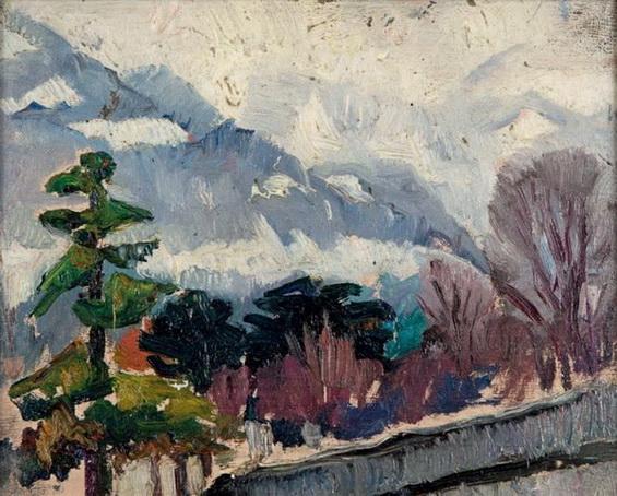 Bessie Davidson - Mountains in Winter