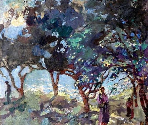 Duncan Grant пейзаж с оливами