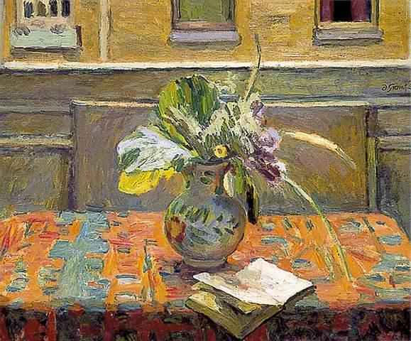 Duncan Grant цветы на столе