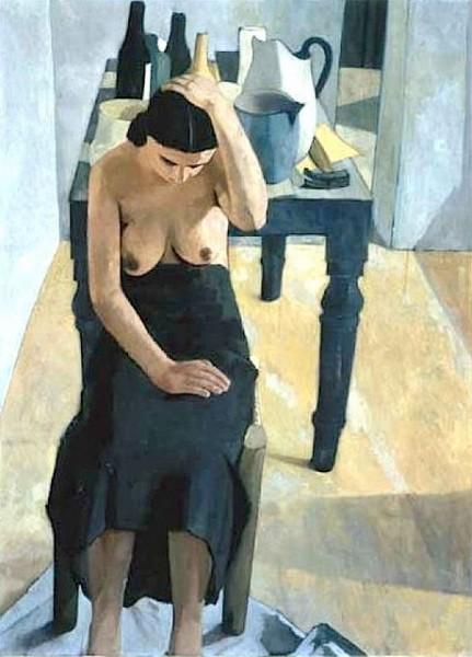 Felice Casorati - Donna vicino al tavolo